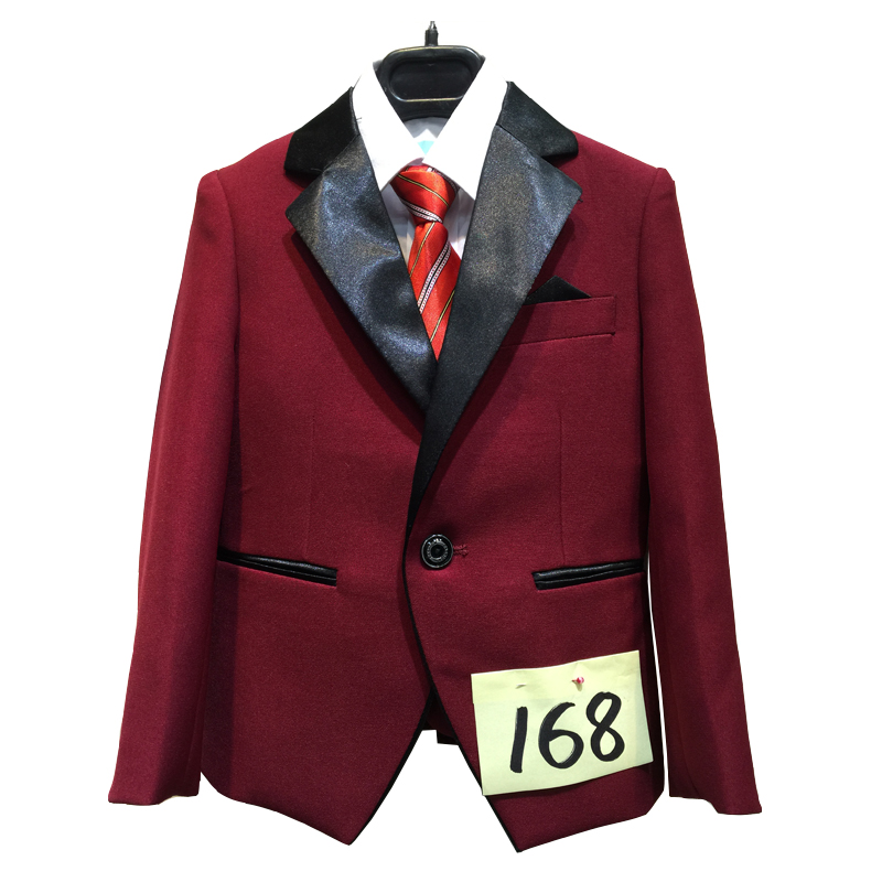 Boys Burgundy Wedding suits 2-15Years Formal Attire Kids Clothes Children Tuxedo Suit 5PCS Terno for Education Party 2 tuxedo