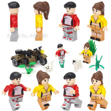 Legoinglys Military Boy Figures Girl Set Building Blocks City Special Forces World War 2 Soldier Weapons Gift Moc Buildings Toy