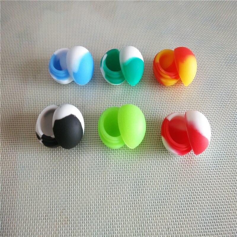 5.6ml Reusable Non-stick Silicone Ball Container For Wax Silicone Jars Dab Wax Container E Cigarette 200pcs/lot