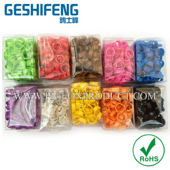 free shipping 1000pc 8mm numbered 1-100 in 10 colors on clip plastic for pigeon