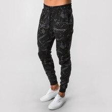 Calças de corrida dos homens calças de corrida de camuflagem calças de treino de ginástica calças de treino fino ajuste calças