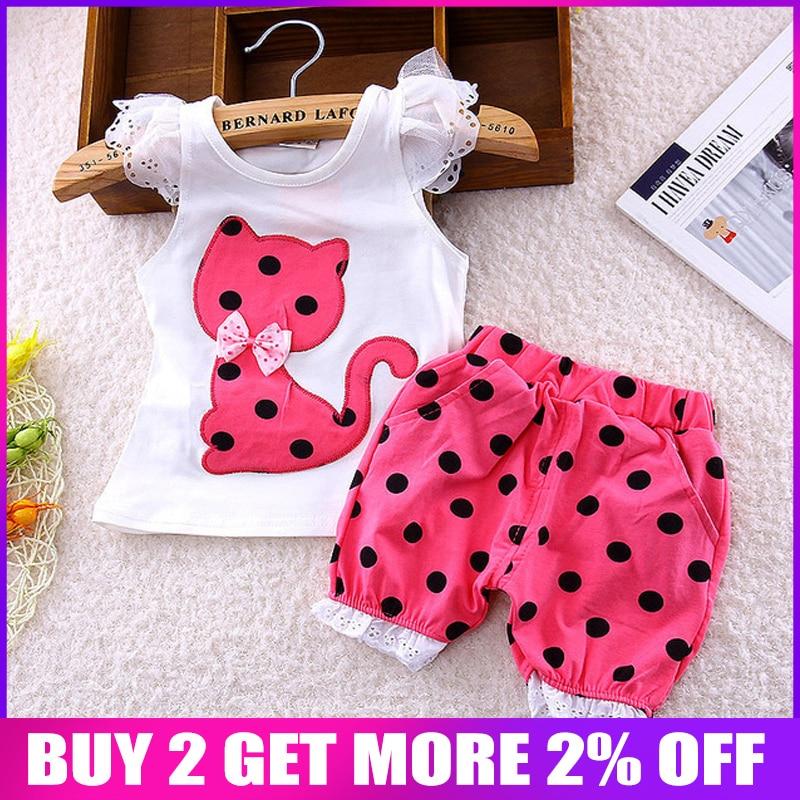 BibiCola Baby Girls Clothing Set baby Summer girls Clothes Toddler Baby clothes newborn summer clothing girl infant set