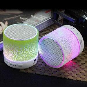 Image 5 - HLTON LED אלחוטי Bluetooth רמקול מיני מוסיקלי אודיו סאב TF USB רדיו FM רמקול עם מיקרופון עבור טלפון MP3