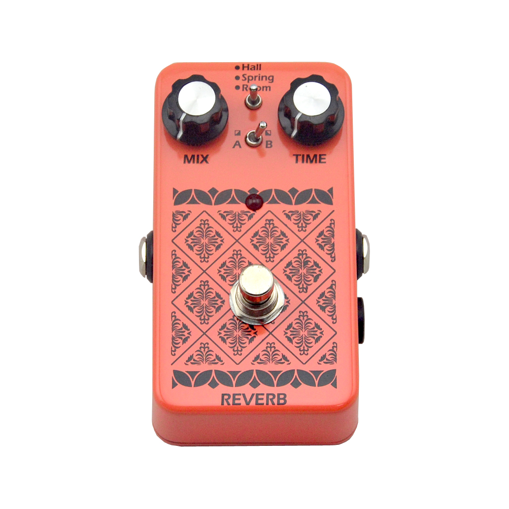 NEW reverb effect Stereo True Bypass Electric Guitar Pedal for Guitar Parts & Accessories reverb aov 3 ocean verb digital reverb electric guitar effect pedal aroma mini digital pedals with true bypass guitar parts