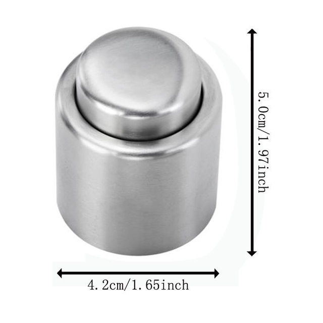 Free Shipping Stainless Steel Vacuum Sealed Red Wine Storage Bottle Stopper Plug Bottle Cap New 2018 ma