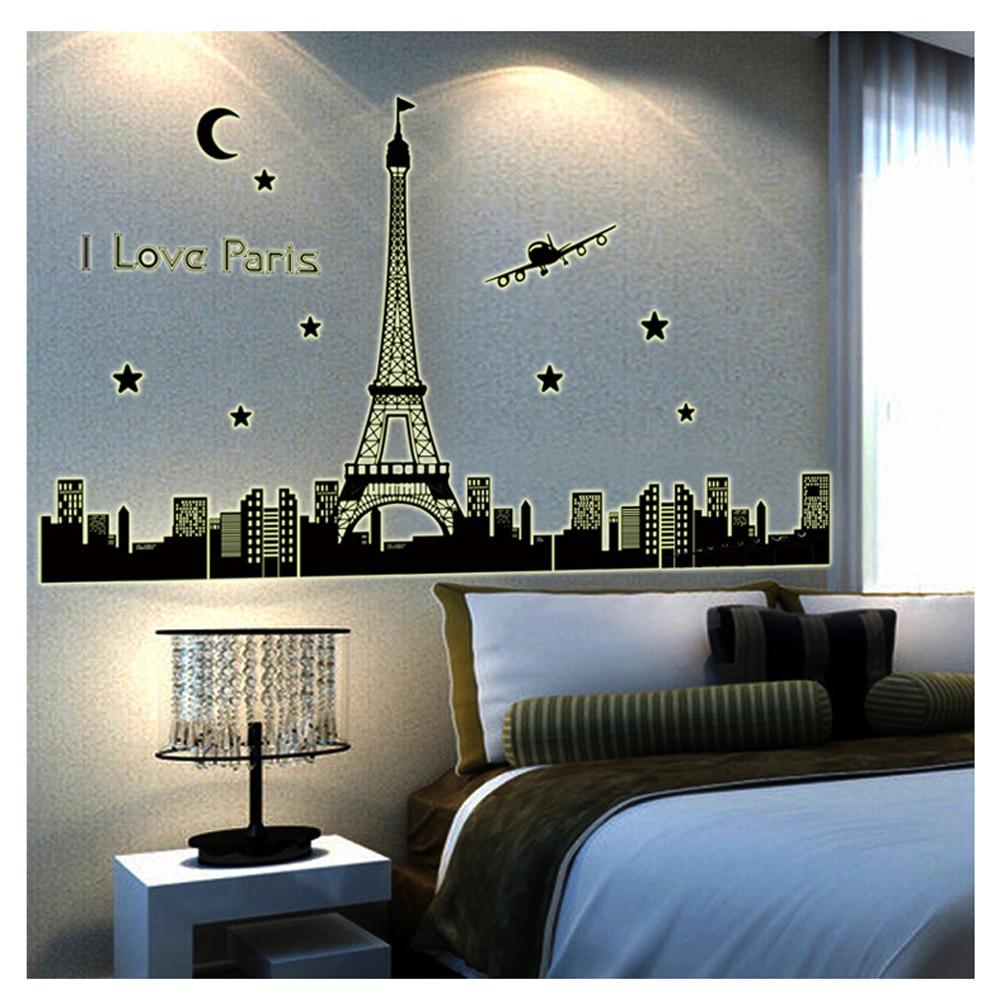 Paris Bedroom Decor Aliexpresscom Buy Paris Bedroom Wall Decor Sticker Decals Vinyl