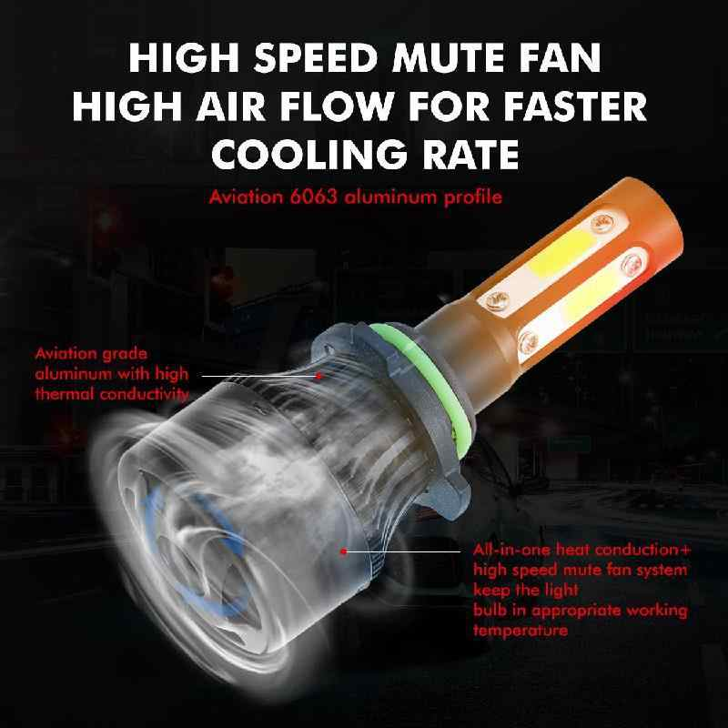 ASLENT H7 Turbo Led 2x H4 H11 HB3 9005 HB4 9006 9004 9007 9012 หลอดไฟสำหรับไฟหน้ารถอัตโนมัติ 4 Lumen 100W 12000LM 6500K