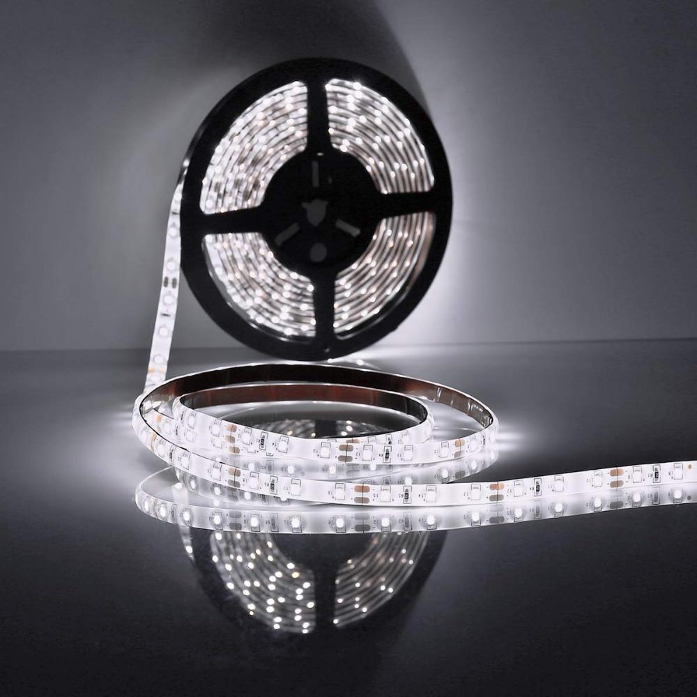 Led Strip Lights, Waterproof 5m 300 Led 2835 Smd Strip Light Waterproof 6000k Cold White Fairy Lights Indoor Lighting F