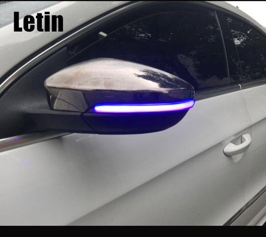 BLUE/WHITE light!! For VW Golf 7 MK7 7.5 GTI R Sportsvan Touran L Side Mirror indicator Dynamic blinker LED Turn Signal Light