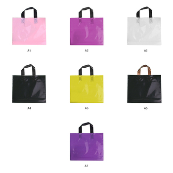24*30cm 200 pcs PE recycling shop in the water proof printing logo strap plastic bag packaging, China