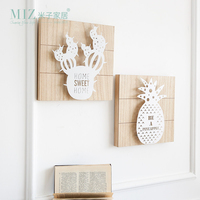 Miz 1 Piece Wooden Board Wall Hanging Light Christmas Decorations for Home Handmade Craft Wall Decor
