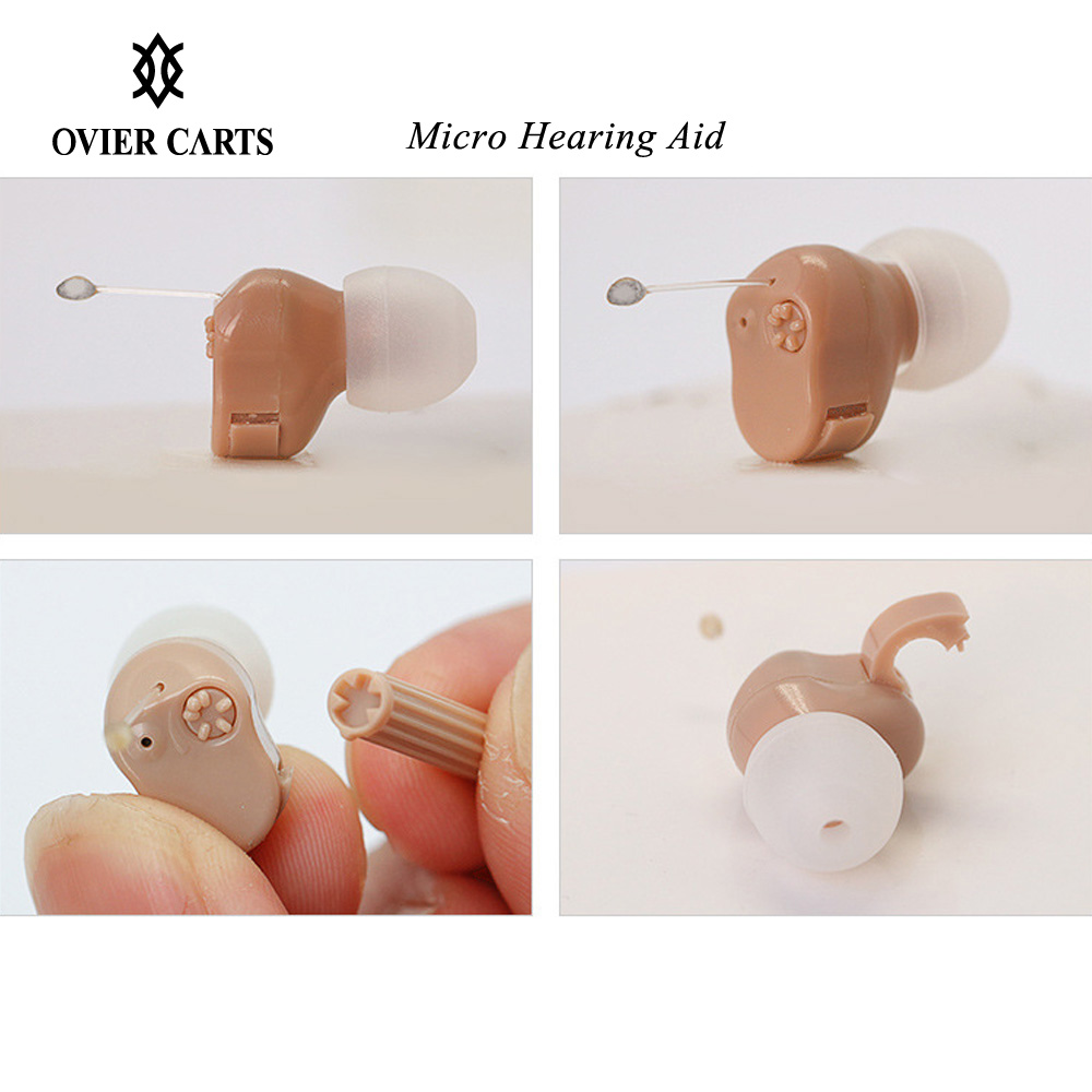 Mini Size Inner Ear Invisible Hearing Aid Adjustable Micro Wireless Hearing Aid Right/Left Ear Best Sound Amplifier Ear Care