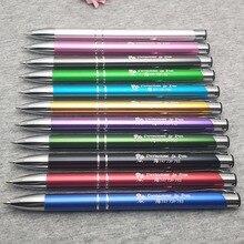 Bolígrafos de metal personalizados para boda, grabado láser, regalo para clientes, personalizado con texto de su logotipo, 2020
