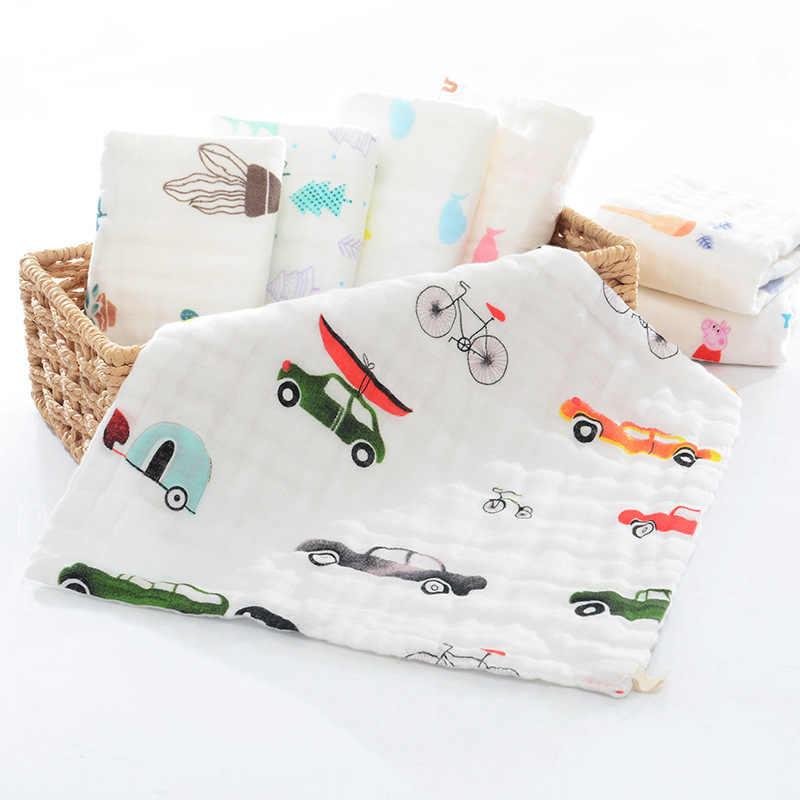 10 piezas 6-capa 30*30 cm alta densidad 100% algodón una clase muselina gasa bufanda cuadrada toalla para la cara del pañuelo del bebé toalla para la Saliva del bebé