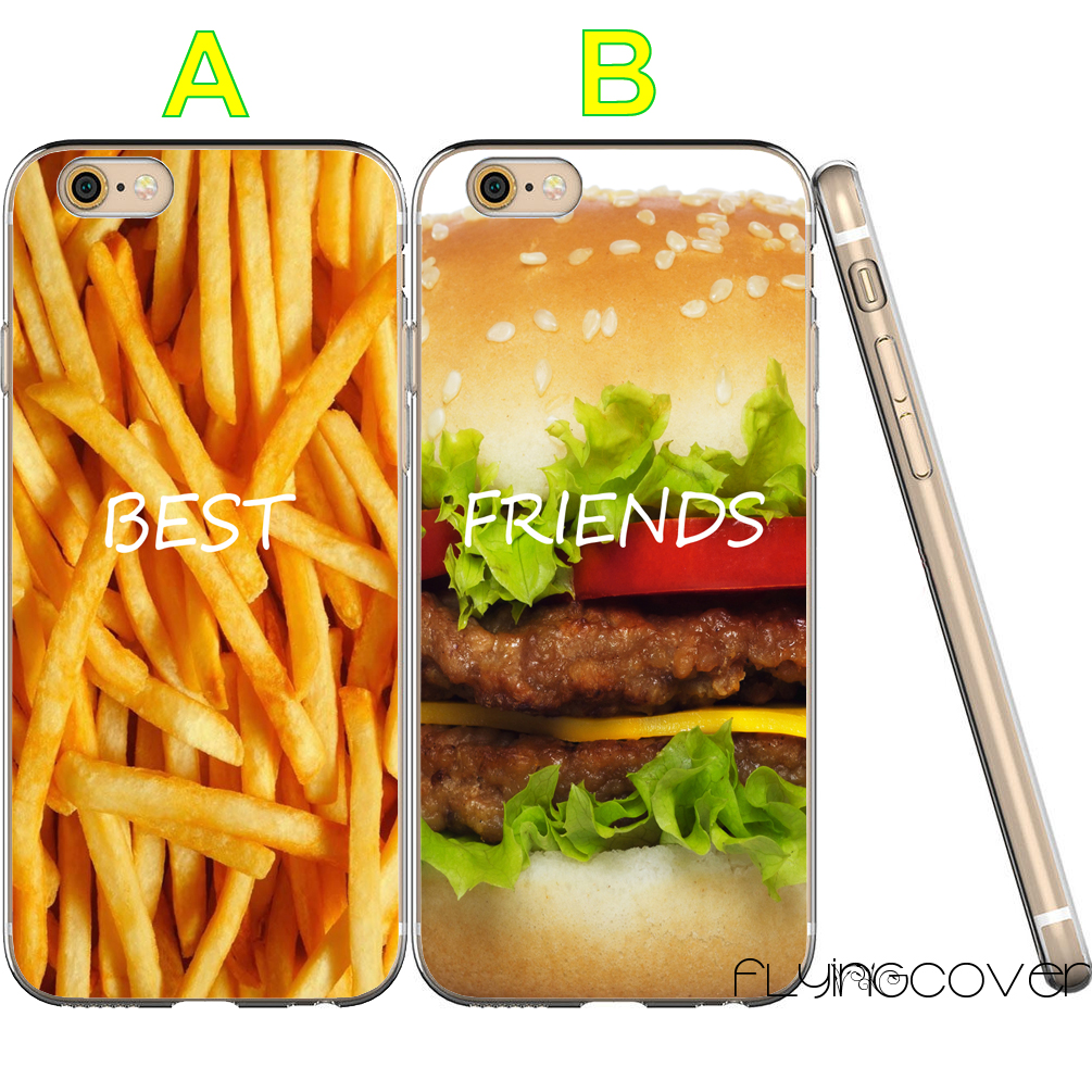 Coque French Fries Food Best Friend Clear Soft TPU Silicone Cover for iPhone X 7 8 Plus 5S 5 SE 6 6S 5C 4S 4 iPod Touch 6 5 Case