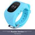 2017 Teléfono Inteligente GPS Reloj Niños Kid Reloj Q50 GSM GPS Localizador Rastreador Anti-perdida Smartwatch Niño Guardia Para iOS Android
