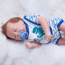 Magnetic Mouth Sleeping Boy Baby Doll 20 Inch 50 cm Newborn Mohair Babies Dolls Realistic Cloth Body Toy Kids Birthday Xmas Gift