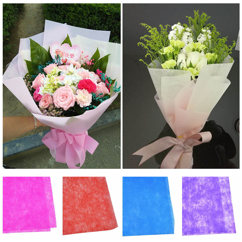 10pcs/lot Multicolor Tissue Paper Flower Wrapping Paper Gift Packaging Craft Paper Roll Wine Packing Material