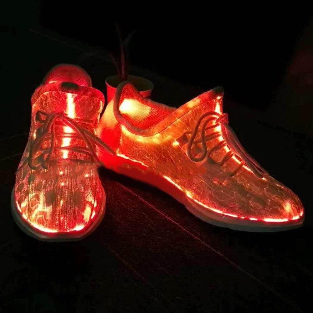 7 светодиодов световой Обувь для танцев Для женщин Спортивная обувь кружевная обувь светящаяся цветная Обувь для вечеринки Танцы хип-хоп Ве...