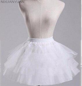 NIXUANYUAN الأبيض أو الأسود تنورات قصيرة 2019 المرأة خط 3 طبقات تحتية لفستان الزفاف jupon cerceau خطاباتخطابهزوجات