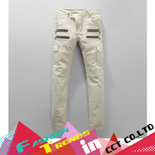 Jeans Men Active ripped jeans for mens Cool Runway Biker straight fashion distressed Denim Casual Pants