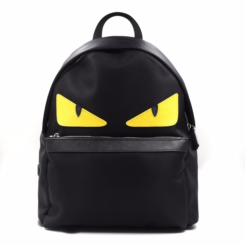 Small Monster Backpack Waterproof With Genuine Leather Eye