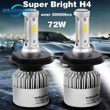 2 stücke 8000LM 72W Auto Scheinwerfer Led lampe COB H1 H3 H4 H7 H8 H11 9005 9006 Auto licht birne 6500K Nebel Licht Scheinwerfer Lampe Birne 9 32V