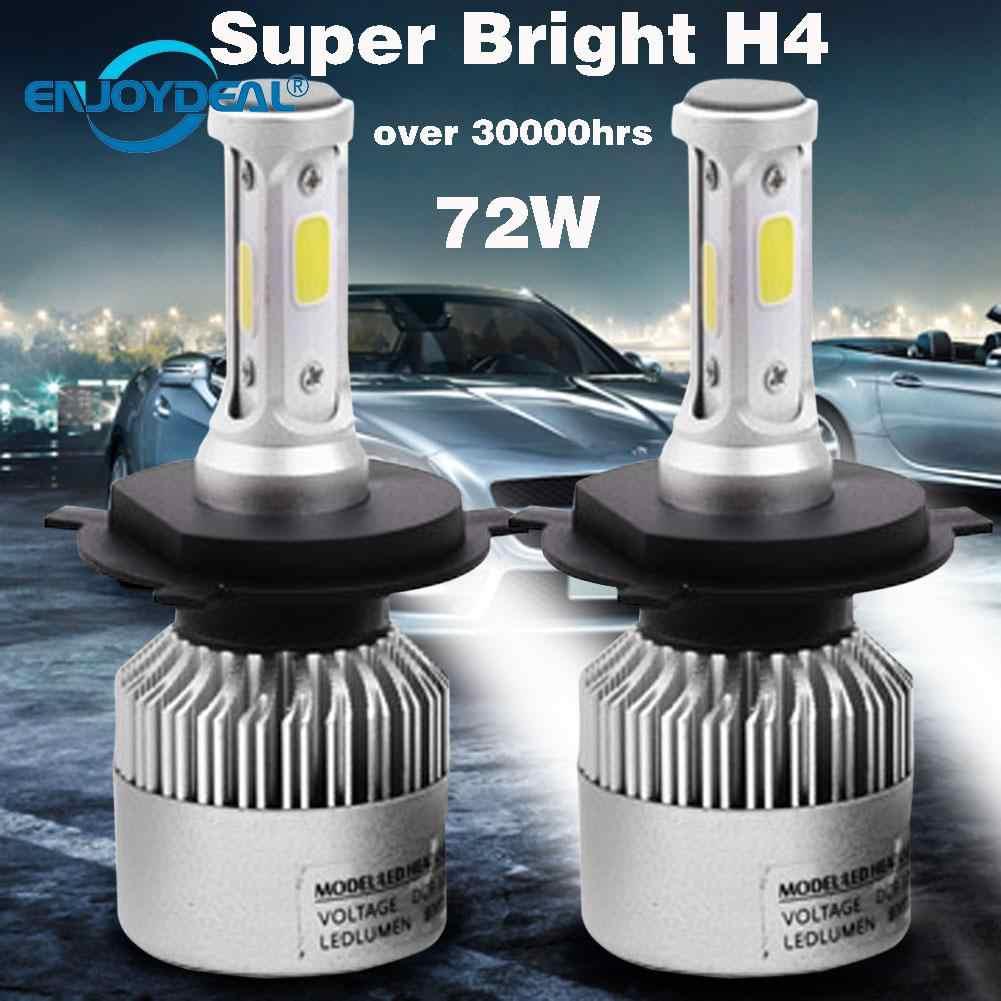 Ampoule de phare de voiture, 2 pièces 8000LM, 72 W, COB H1 H3 H4 H7, H8 H11 9005