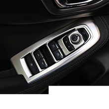 lsrtw2017 car styling carbon fiber stainless steel window control panel trims for subaru forester sk 2019 2020