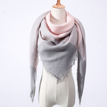 2018 New Spring Winter Women's Scarf Plaid Warm Cashmere Scarves Female Shawls and Pashmina Lady Bandana Wraps