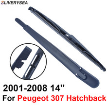Rear Windscreen Wiper and Arm For Peugeot 307 2001-2008 14 3/5 door Hatchback High Quality Iso9000 Natural Rubber