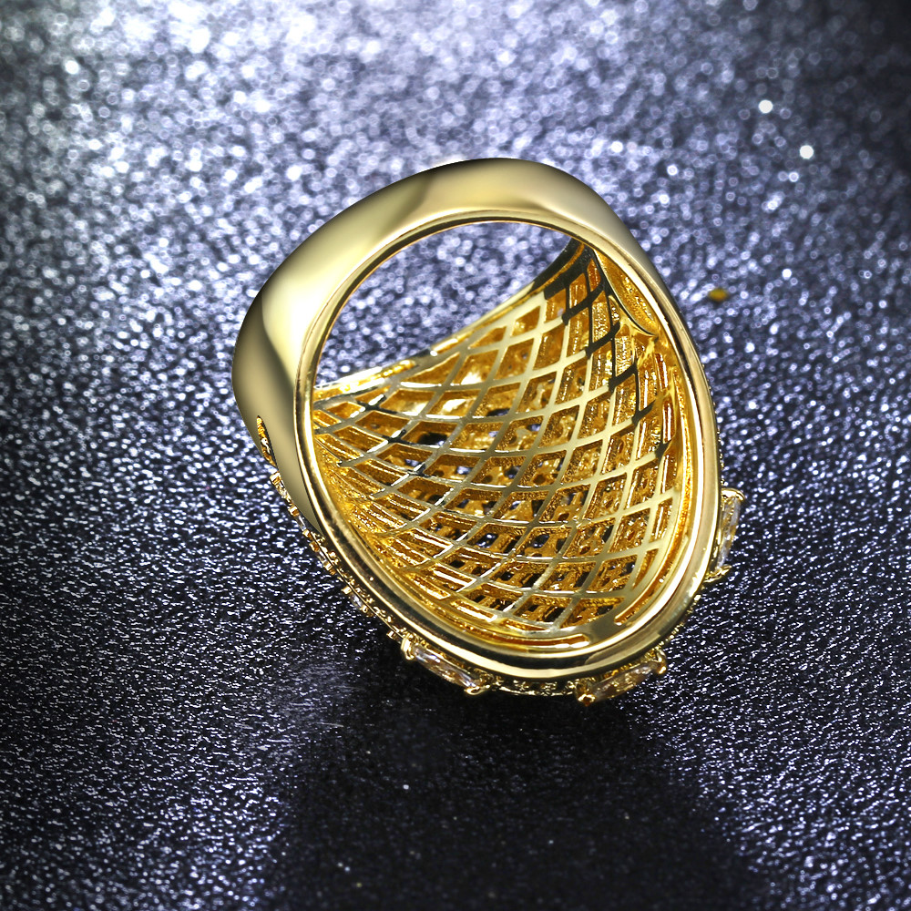 Félelmetes ékszerek! Kedves nagy gyűrű! Fehér és arany színű - Divatékszer - Fénykép 5