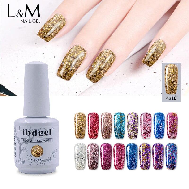24pcs wholesale Soak Off Nail Art Glitter Colors UV Gel Shining Nail Gel Polish Gel Varnish