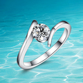 Hot style!!! 925 pure sliver ring;High quality fashion finger Zircon ring for women;Popular jewelry;Joker fashion;