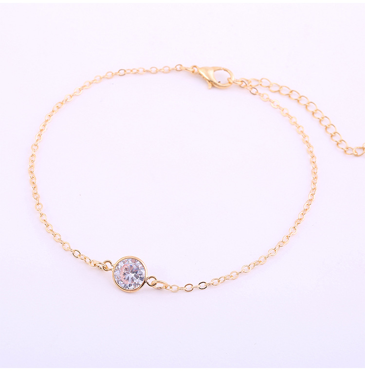 Модные браслеты на ногу из розового золота летние пляжные с