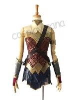 Superhero film Wonder Woman Diana erwachsene cosplay kostüm set halloween-kostüme für frauen supergirl kostüm