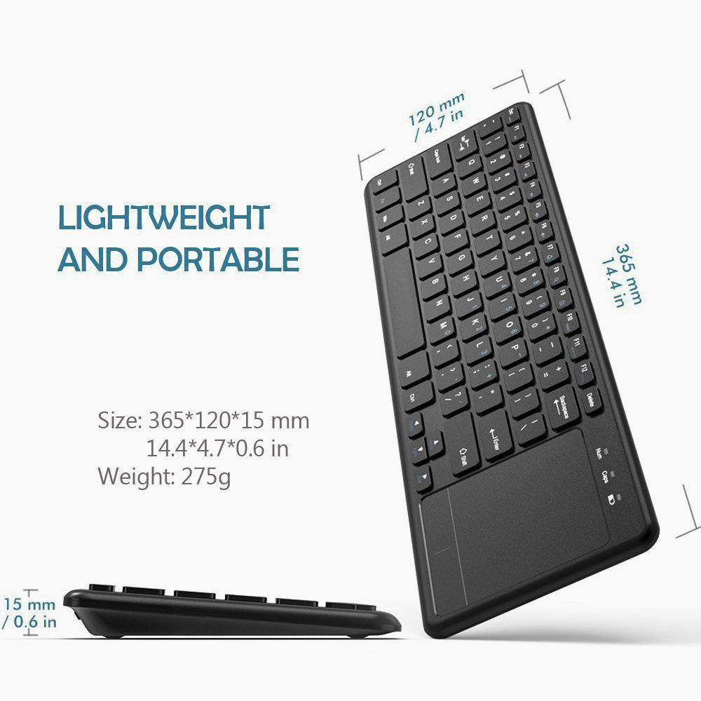 Zienstar 2.4G Multimedia Wireless Keyboard con Touchpad para Windows - Periféricos de la computadora - foto 4