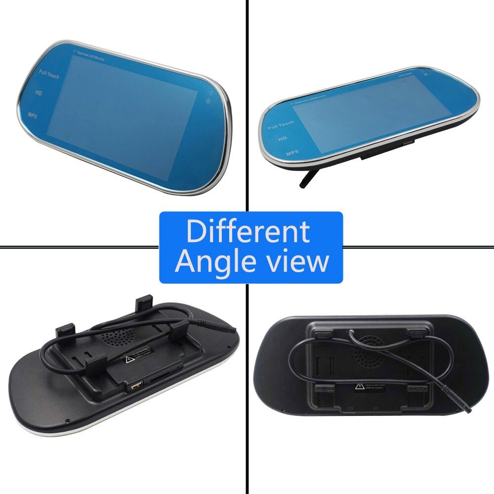 Carsanbo nouveau modèle écran tactile avec télécommande 7 pouces rétroviseur MP4 MP5 moniteur Bluetooth Support 1080P film