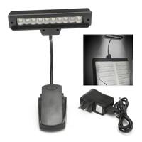 Portable 10 LED Clip On Orchestra Piano Music Stand Table Night Lights Flexible Reading Book Light