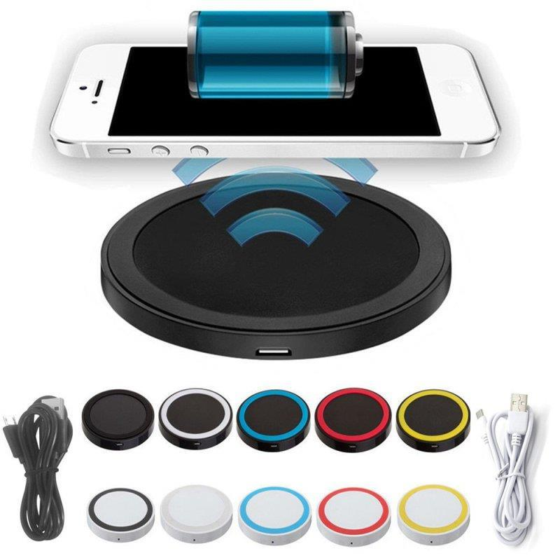 Black Round Qi Wireless Charger Charging Pad For Nokia ...