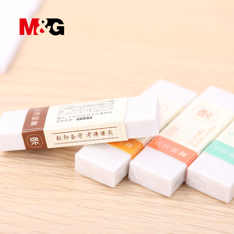 10pcs/lot 2B Erasers White School Office Supplies Stationery Goods For School Simple Erasers