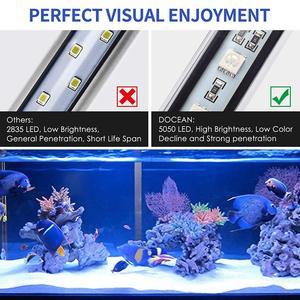 Аквариумный аквариум светодиодный светильник RGB цветной подводный погружной светильник Водонепроницаемая 5050 SMD водная декоративная лампа ...