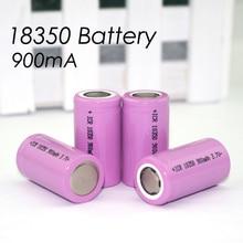 8 pcs .. Icr 18350 Lithium Battery Battery 900 mAh 3.7 V cylindrical lamp electronic cigarette battery