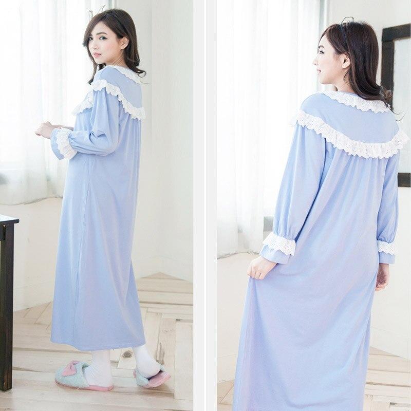 Cotton Nursing pajamas long sleeve sleepwear Breastfeeding Sleepwear ...