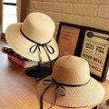 2016 Women's Beach Hats Ladies Girls Sun Hat Women Straw Floppy Hat Summer Panama Boater Hats For Womans Bucket Kentucky Derby