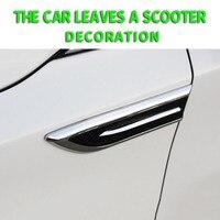 Metal R Linha Rline Fender Lado Do Carro Adesivo Emblema Emblema Para Volkswagen VW Polo Golf