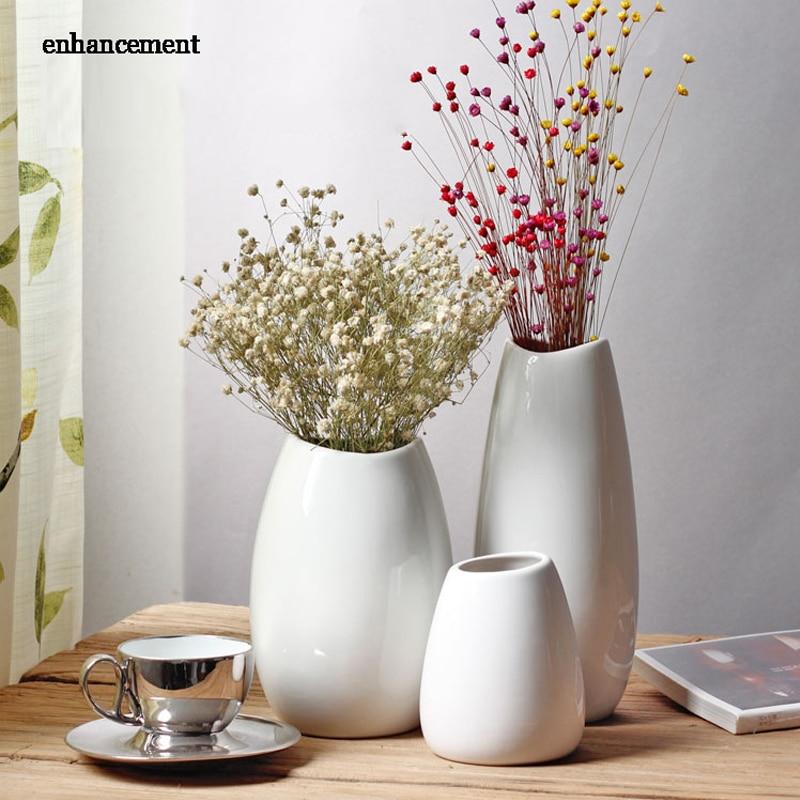 new design white porcelain dried babysbreath modern contemporary flower hydroponic vase. Black Bedroom Furniture Sets. Home Design Ideas