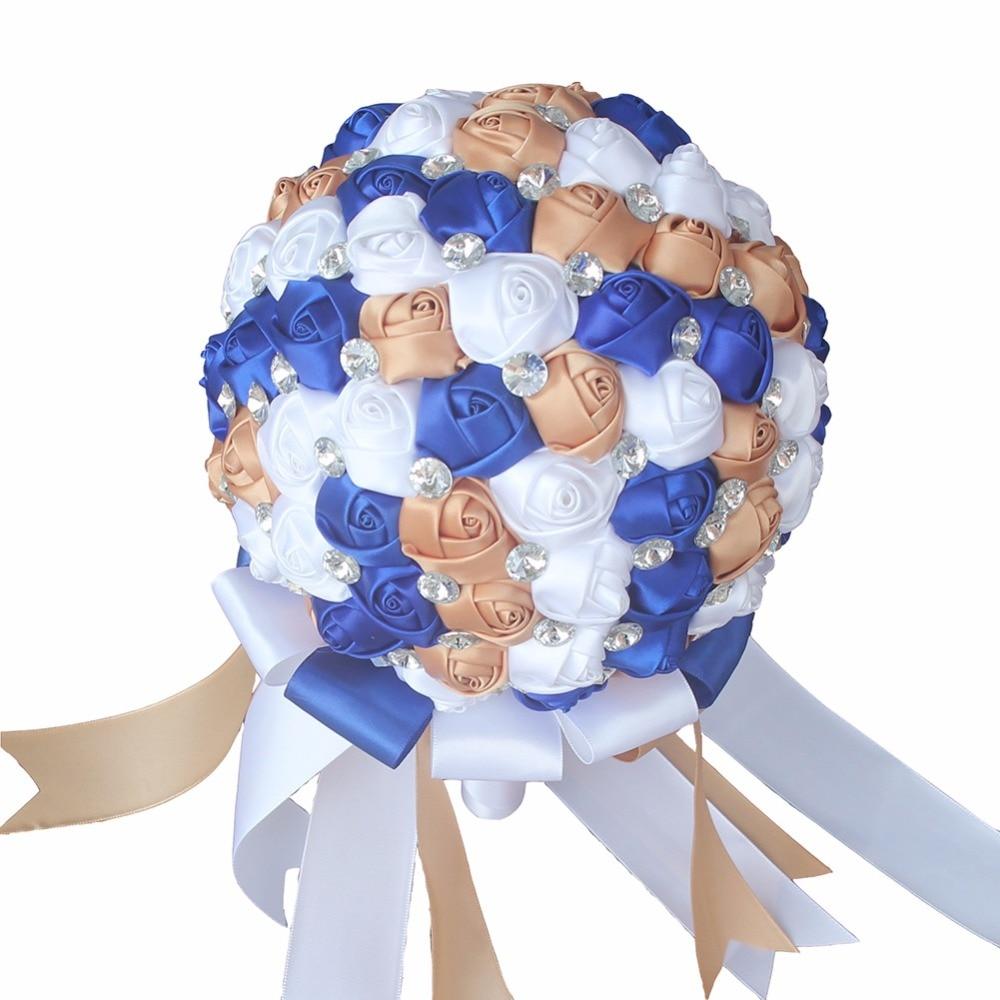 Foma Ball Wedding Bouquet Rhinestone Bridal Handmade Flower Bouquet