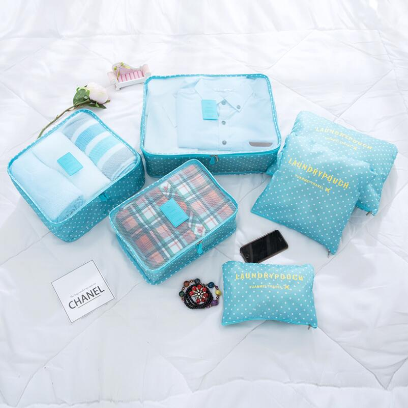 Image 3 - 6PCS Korean Style Travel Portable Houseware Collection Storage Bag Clothes Underwear Finishing Bags Bed Stprage Underbed Nylon-in Foldable Storage Bags from Home & Garden
