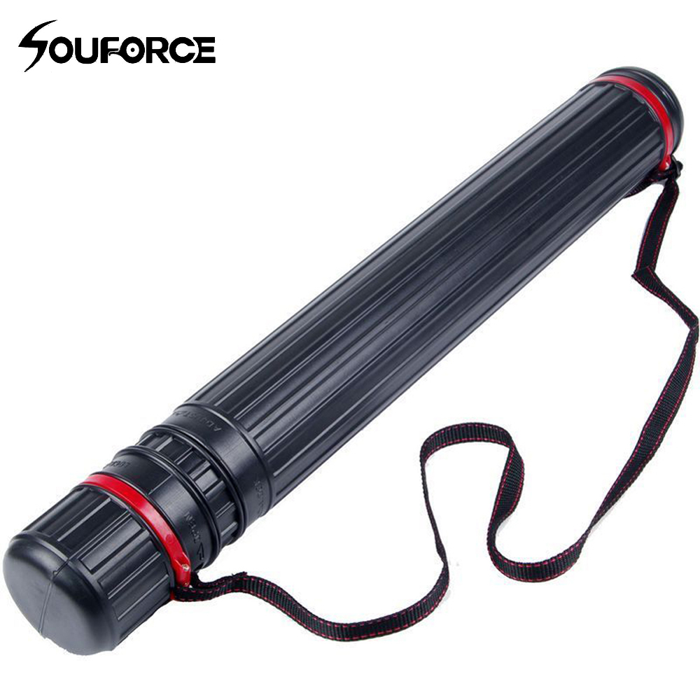Adjustable Multifunction Archery Tool 63-105 Cm Bow Arrow Quiver Tube Back Shoulder Case Bag Hunting Accessories